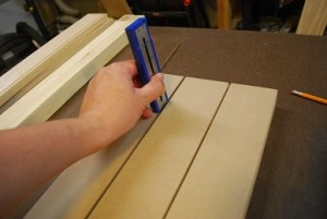 Cutting Grooves into Shelf to Support Drawers
