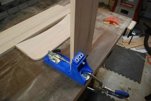 Drilling Pocket Holes for Mirror Frame