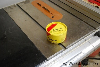 Paste Wax For Table Saw Johnson Paste Wax Used to Wax a TableSaw