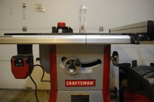 Front of Tablesaw