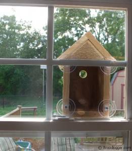 Window Bird House Completed and Mounted to a Window