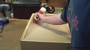 Benchtop Sander Table Assembly Glue Seal