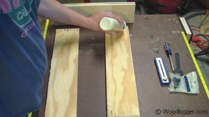 Benchtop Sander Table Glue up