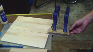Pizza Peel Assembly Glue Up Handle