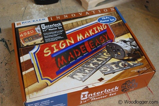 wood sign making templates - interlock sign making kit by rockler review woodlogger