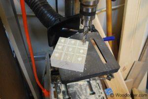 Marble Tic-Tac-Toe Drill Press Divots