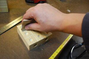 Marble Tic-Tac-Toe Sanding
