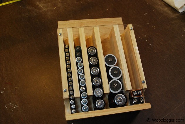 Battery Organizer Wood Project