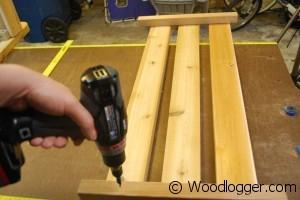 Fire Pit Bench Shelf Assembly 1