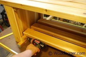 Fire Pit Bench Shelf Assembly 2