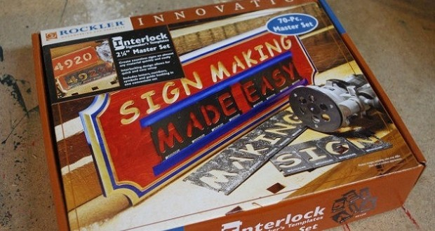 Interlock sign making kit by rockler review woodlogger for Router templates for signs