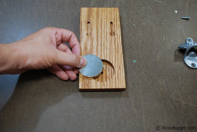 Bottle Opener With Magnetic Catch Wood Logger