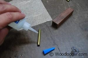 Wood Razor Brass Glue Up