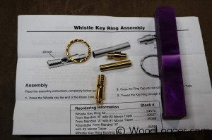 Whistle Key Ring Assembly Kit
