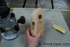 Woodpecker Feeder Rough Cuts