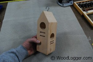 Woodpecker Feeder Completed