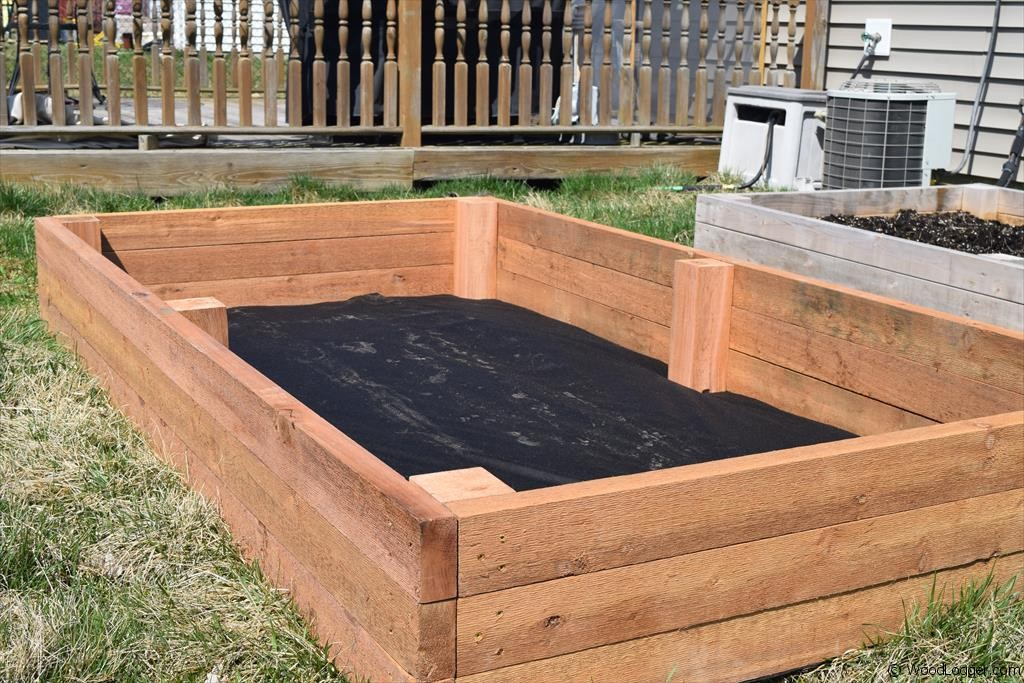 Raised garden bed woodlogger for Garden box designs