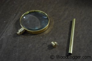 Turned Magnifying Glass Kit Contents