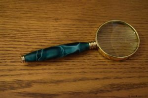 Turned Magnifying Glass